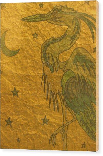 Blue Heron Wood Print by Austen Brauker