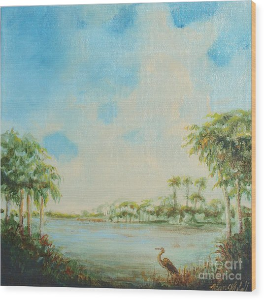 Blue Heron Pointe Wood Print by Michele Hollister - for Nancy Asbell
