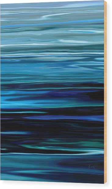 Blue Horrizon Wood Print