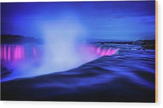 Blue Hour At Niagara Falls Wood Print