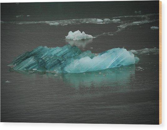 Blue Iceberg Wood Print