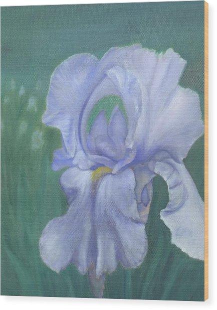 Blue Iris Wood Print by Laurel Ellis