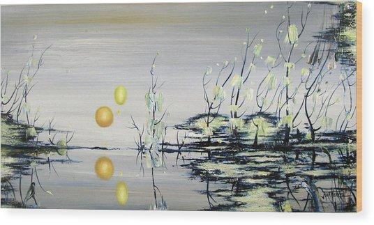 Blue Lagoon Wood Print by Judy Merrell