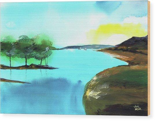 Blue Lake Wood Print
