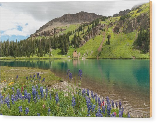 Blue Lakes Summer Splendor Wood Print