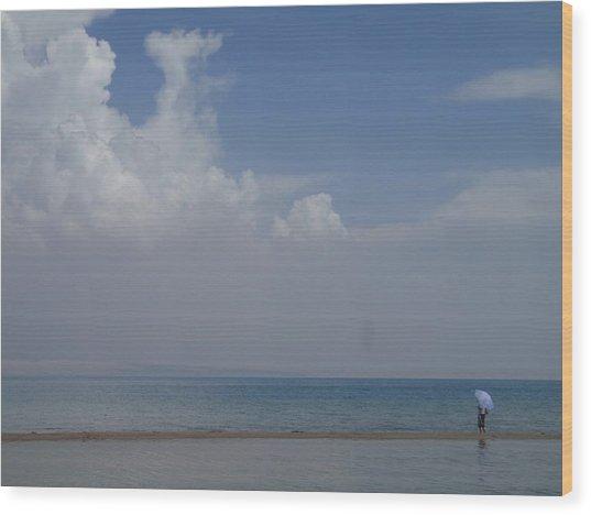 Blue Loneliness Wood Print by Cris Motta
