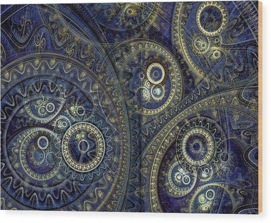 Blue Machine Wood Print