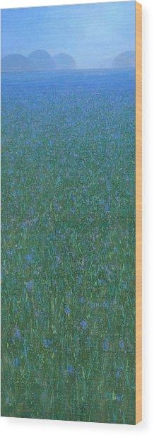 Blue Meadow 2 Wood Print