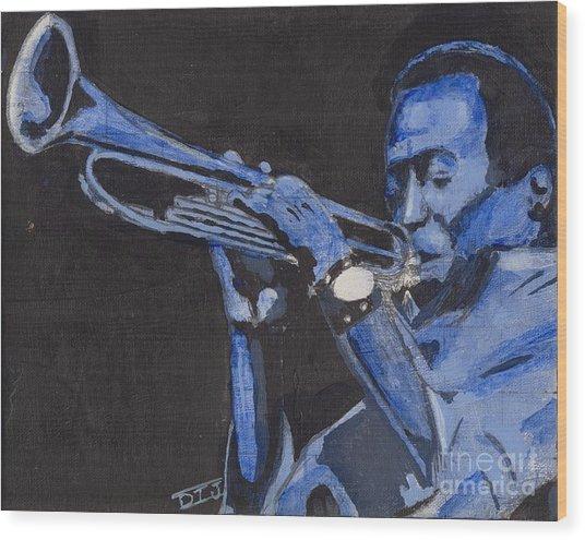 Blue Miles Wood Print