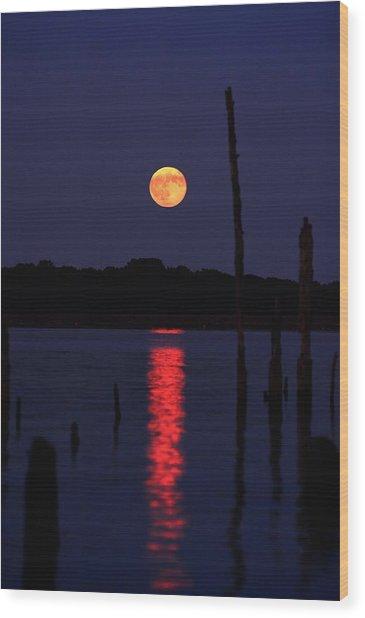Blue Moon Wood Print