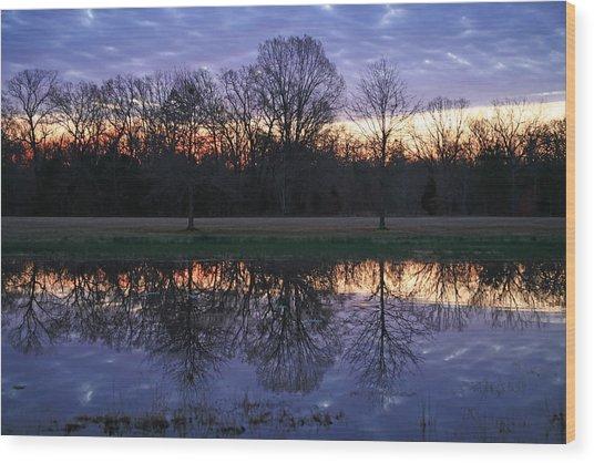 Blue Morning Wood Print by James Jones