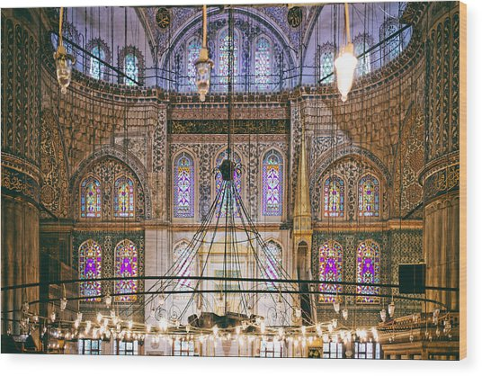 Blue Mosque Of Istanbul Wood Print