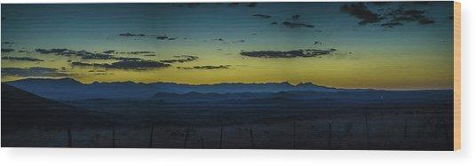 Blue Mountains Wood Print