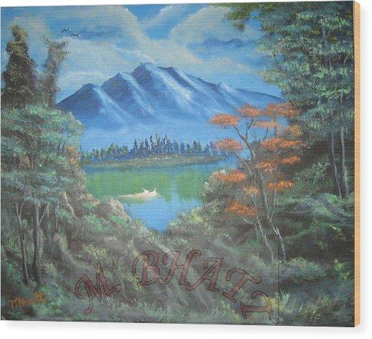 Blue Mountains Wood Print by M Bhatt