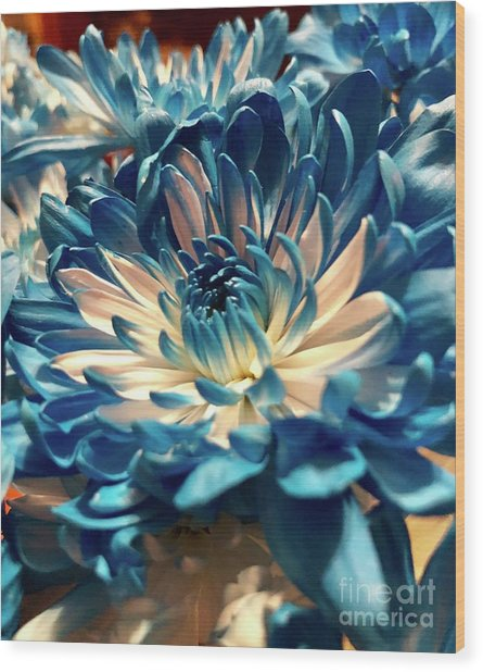 Blue Mum Wood Print
