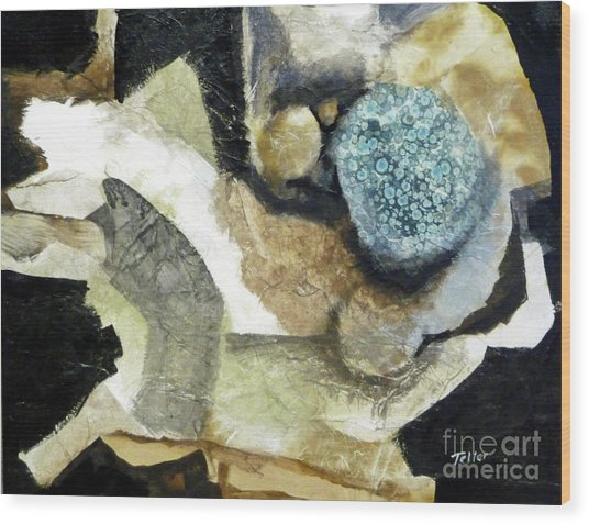 Wood Print featuring the painting Blue Nest by Douglas Teller