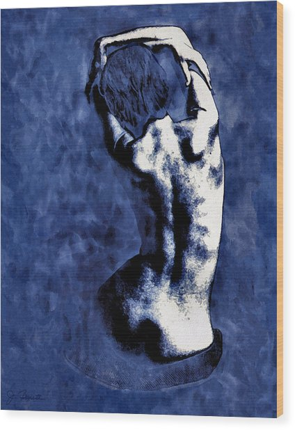 Blue Nude After Picasso Wood Print