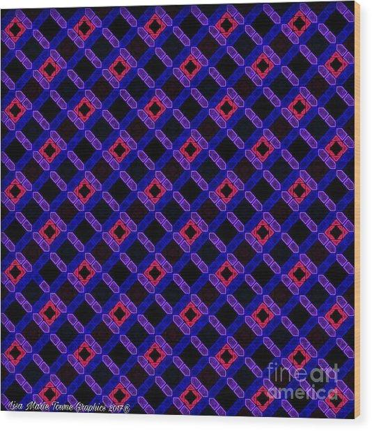 Blue Overlay Wood Print