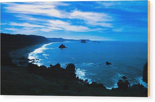 Blue Paradise Wood Print