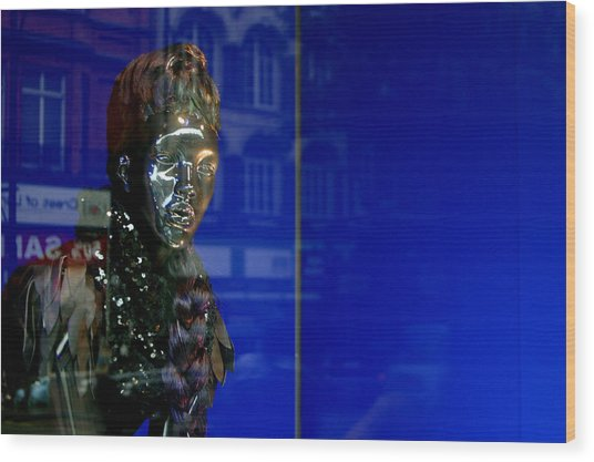 Blue Queen 2 Wood Print by Jez C Self