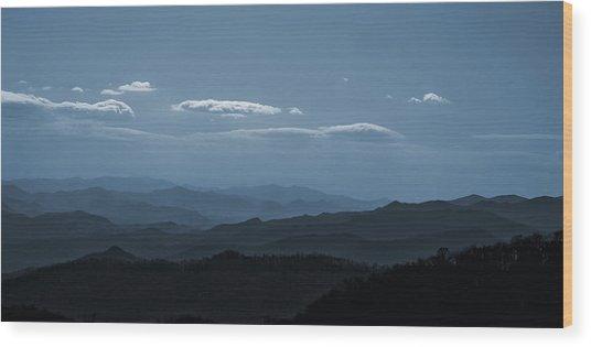 Blue Ridge Blue Wood Print