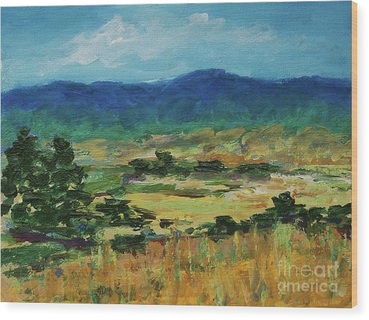 Blue Ridge Wood Print