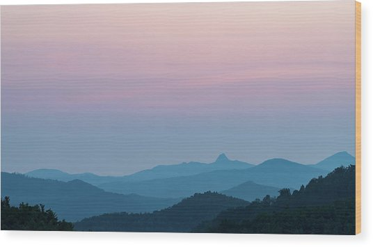 Blue Ridge Mountains After Sunset Wood Print