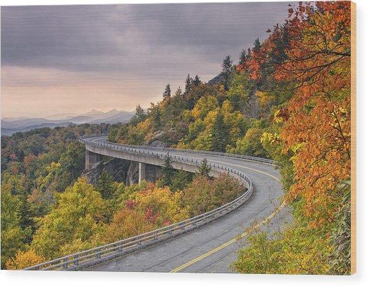 Lynn Cove Viaduct-blue Ridge Parkway  Wood Print