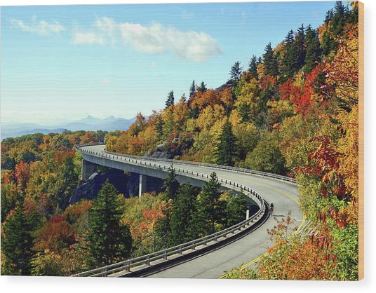 Blue Ridge Parkway Viaduct Wood Print