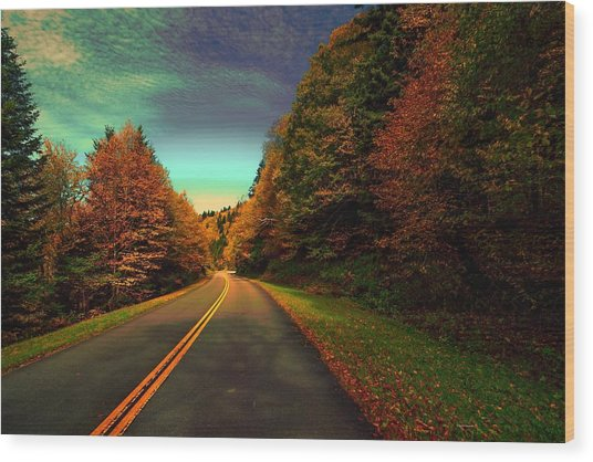 Blue Ridge Pkwy Wood Print