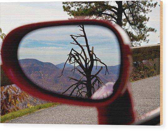 Blue Ridge Reflection Wood Print