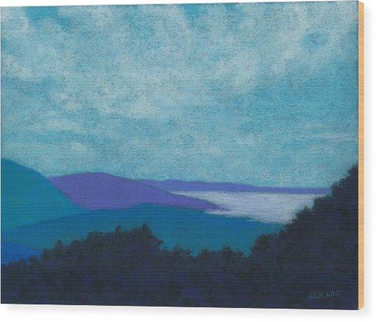 Blue Ridges 3 Wood Print