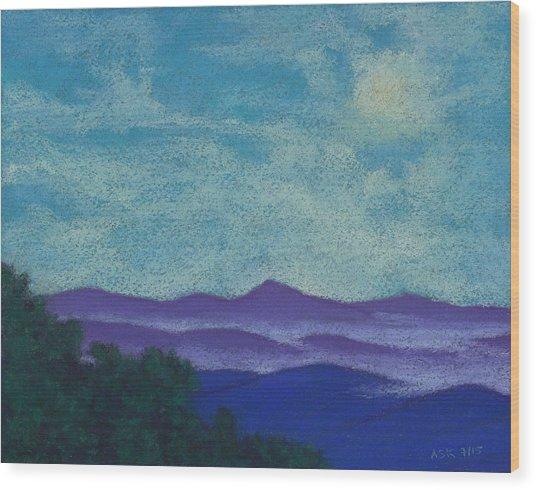 Blue Ridges Mist 1 Wood Print