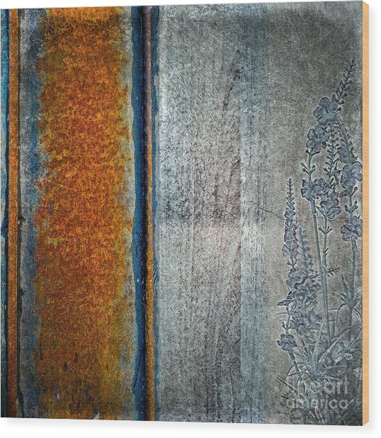 Blue Rust Wood Print