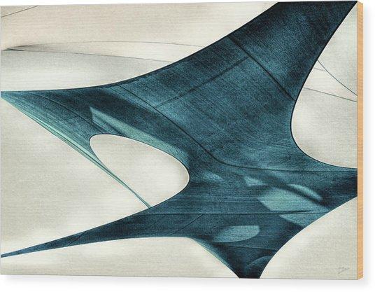 Blue Sails Wood Print
