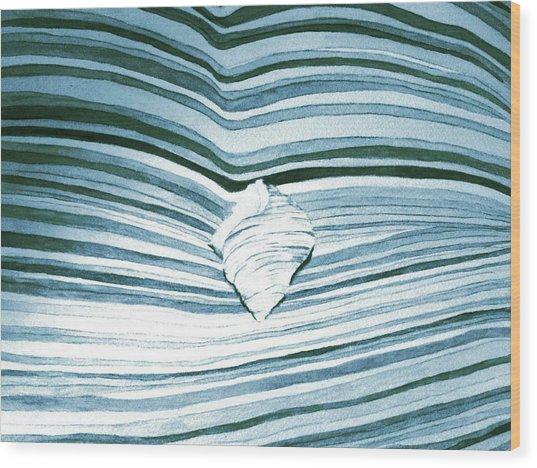 Blue Sea Wood Print by Constance Larimer
