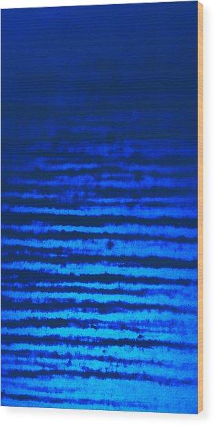 Blue Sea Dream Wood Print