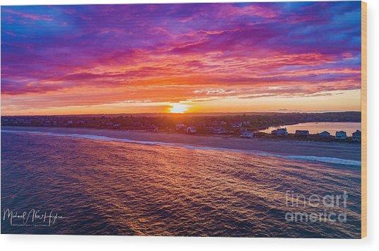 Blue Shutter East Beach Wood Print