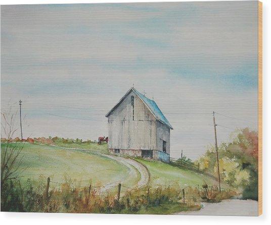 Blue Skies Wood Print by Mike Yazel