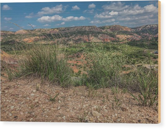 Blue Skies Over Palo Duro Canyon Wood Print