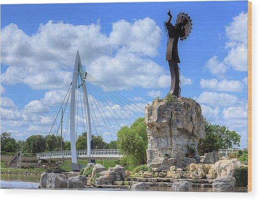 Blue Skies Over Wichita Wood Print by JC Findley