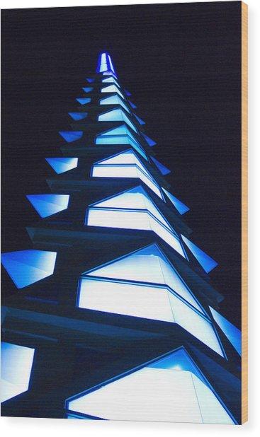 Blue Spire Wood Print by Richard Henne