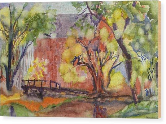 Blue Springs Mill Wood Print by Patricia Bigelow