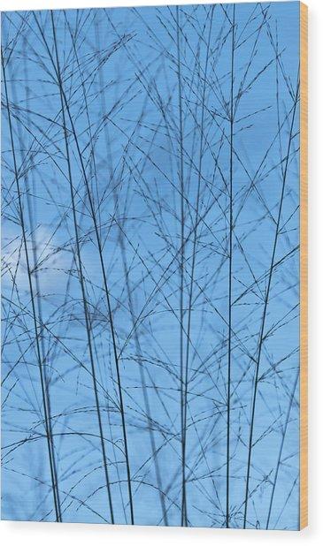 Blue Standing Wood Print