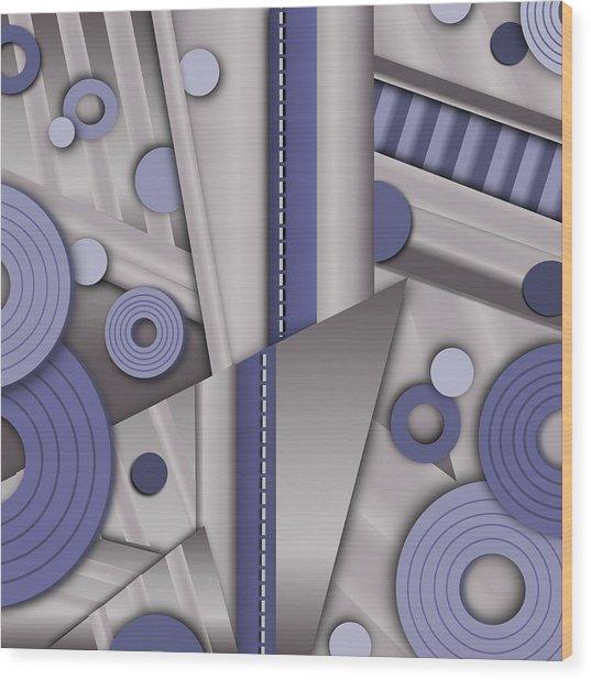 Blue Steel Wood Print