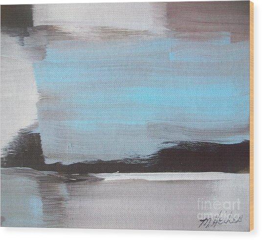 Blue Streak Wood Print by Marsha Heiken