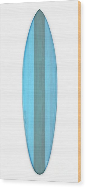 Wood Print featuring the digital art Blue Surf Board by Edward Fielding