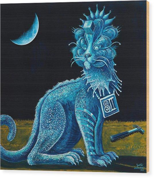 Blue Testament Wood Print