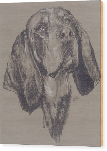 Bluetick Coonhound Wood Print