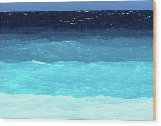 Blue Tones Of Ionian Sea Wood Print